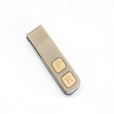 PERSONALISED MONEY CLIP WITH INITIALS
